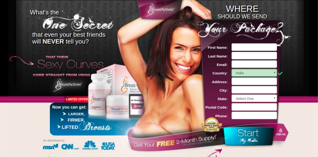 Breast Actives - Breast Enhancement Review