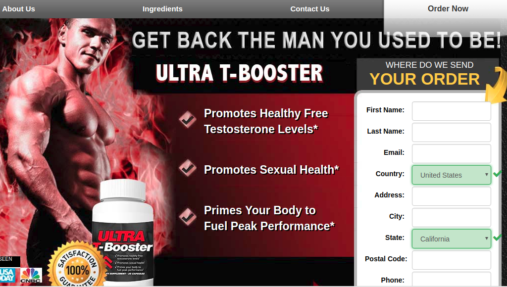 Ultra T-Booster Review – WOW! Shocking Truth Exposed!