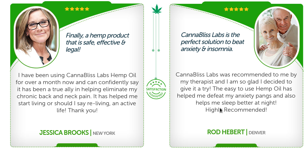 CannaBliss Labs Pure CBD testimonial