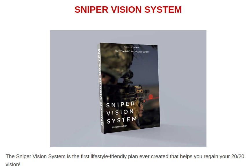Sniper Vision System Review – Scientifically Proven Way To Improve Visual Acuity!!